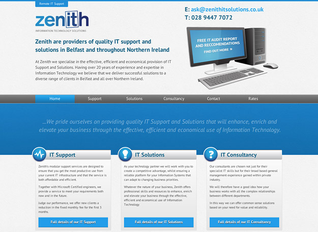Zenith IT Website